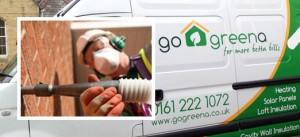 Go Greena installer and installation van
