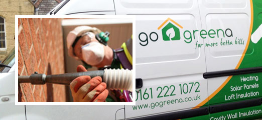 Go Greena installer and installation van