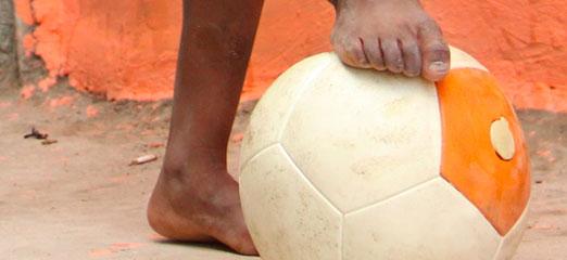 The Soccket energy gathering football