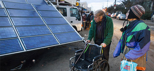 The mobile solar power station helping superstorm Sandy victims