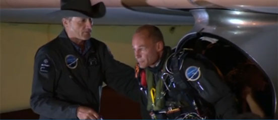 Solar impulse lands in Phoenix