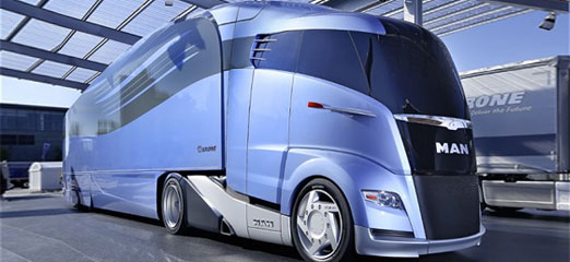New aerodynamic MAN lorry