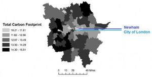 London carbon footprint map