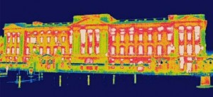 Thermal image of Buckingham Palace
