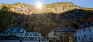 Solar powered mirrors in Rjukan, Norway
