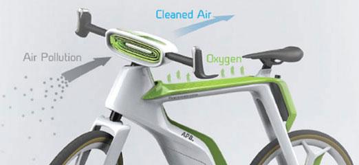 Pedal bike that purifies the air